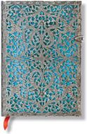 Paperblanks Silver Filigree Maya Blue Midi LINED