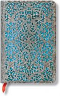 Paperblanks Silver Filigree Maya Blue Classic Mini LINED