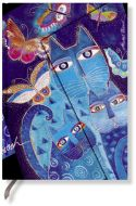 Paperblanks Blue Cats & Butterflies Midi LINED (RARE)