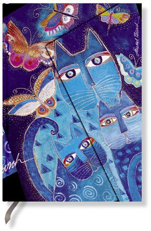 Paperblanks Blue Cats & Butterflies Mini LINED