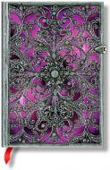 Paperblanks Silver Filigree Aubergine Midi LINED (BO3U)