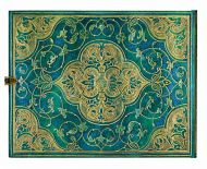 Paperblanks Turquoise Chronicles Guest Book UNLINED (NEW).