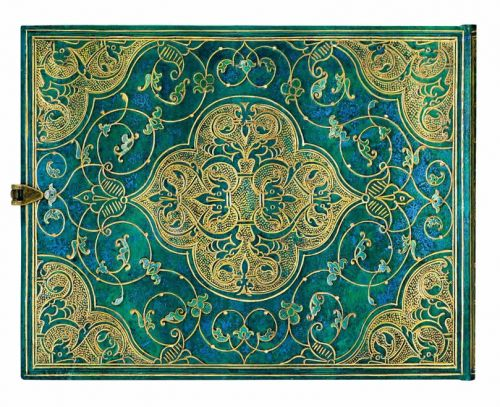 Paperblanks Turquoise Chronicles Guest Book UNLINED.