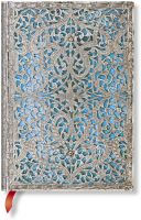 Paperblanks Silver Filigree Maya Blue Midi LINED (Signature Edition).