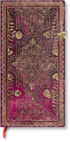 Paperblanks Fall Filigree Amaranth Slim LINED