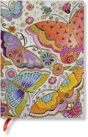 Paperblanks Flexis Flutterbyes Midi 240pp SOFTCOVER LINED