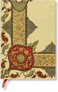 Paperblanks Flexis Visions of Paisley Ivory Kraft Midi 176pp SOFTCOVER (NEW)