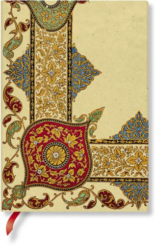 Paperblanks Flexis Visions of Paisley Ivory Kraft Midi 240pp SOFTCOVER LINED.