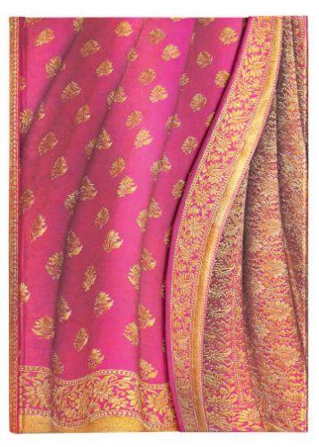 Paperblanks Varanasi Silks - Gulabi Midi LINED (NEW)