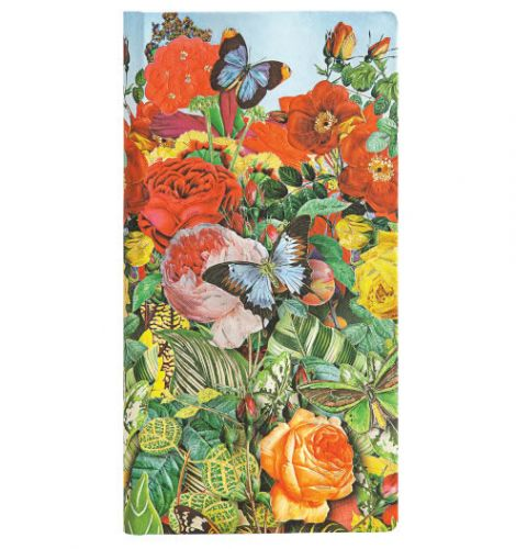 Paperblanks Nature Montages - Butterfly Garden Slim LINED (NEW)