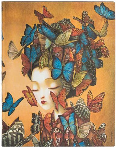 Paperblanks Flexis Madame Butterfly Ultra 176pp SOFTCOVER (NEW)