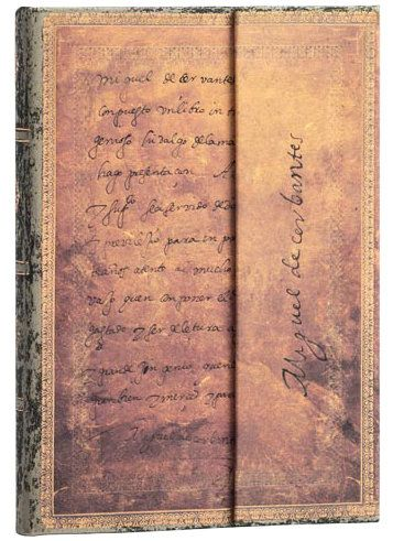 Paperblanks Cervantes, Letter to the King Midi LINED (NEW)