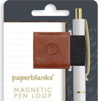 Paperblanks Saddle Brown Magnetic Pen Loop (NEW).