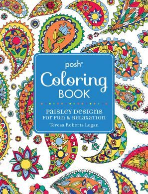 Posh Coloring Book: Paisley Designs for Fun and Relaxation