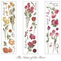 Stickers - Name of the Rose 6 sheets (NEW)