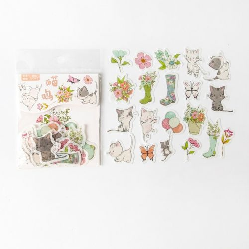 Stickers - Cat Spring Meow (40pcs bag) (NEW)