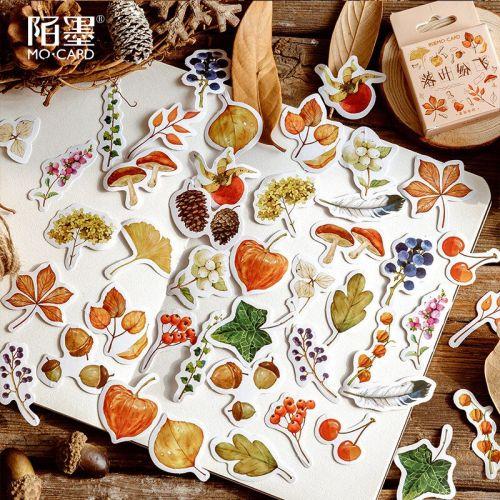 Stickers - Falling Leaves (46pcs box) (NEW)