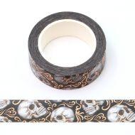 Washi Tape - Bronze Swirl Skulls (20mm x 10m) (NEW)