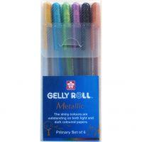 Sakura Gelly Roll Metallic Primary Set 6 Assorted