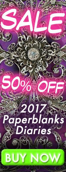 SALE - 50% OFF - 2017 Paperblanks Diaries - BUY NOW