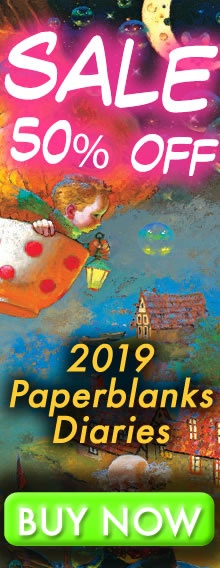 SALE - 50% OFF - 2018 Paperblanks Diaries - order today for immediate delivery